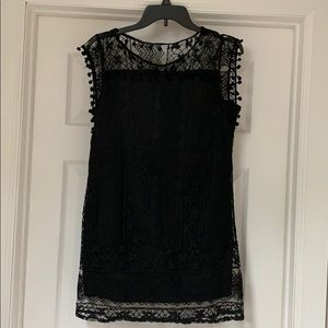 Favolook Black Lace Mini Dress, size L